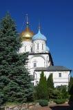 MOSKVA RYSSLAND - September 23, 2015: Novospassky kloster Royaltyfria Foton