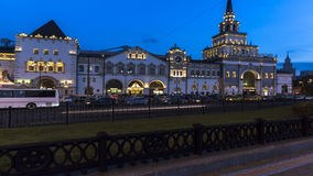 Moskva; Ryssland September - sekunder-Två tusen sexton år; panoramautsikten av Moskvadrevet slutliga Kazansky och satelliten kvad lager videofilmer