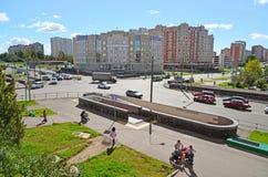 Moskva Ryssland - September 01 2016 Zelenograd med sikter av domstolsbyggnaden Fotografering för Bildbyråer