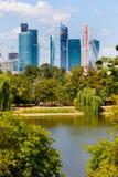 Moskva Ryssland, 09 08 2014 sikt av den nya affärsmitten Royaltyfria Foton