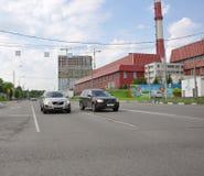 MOSKVA RYSSLAND - 05 29 2015 Sikt Mitino - ett av nya områden Arkivfoto