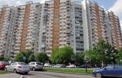 MOSKVA RYSSLAND - 05 29 2015 Sikt Mitino - ett av nya områden av Moskva Royaltyfria Foton