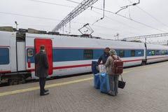 MOSKVA RYSSLAND -01 11 2015 Snabbt drev på Arkivfoto