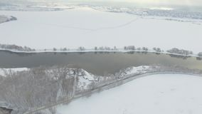 Moskva rzeki widok z lotu ptaka zdjęcie wideo