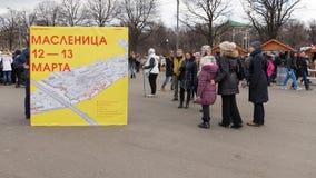Moskva Shrovetide i Gorky parkerar royaltyfri foto