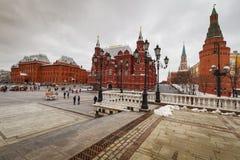 Moskva sikt av den röda fyrkanten Arkivfoton