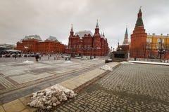 Moskva sikt av den röda fyrkanten Fotografering för Bildbyråer