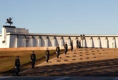 Moskva soldater av Kremlregementet Arkivfoto