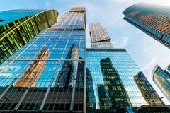 Moskva-stad skyskrapor Royaltyfria Bilder