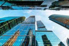 Moskva-stad skyskrapor Arkivbilder