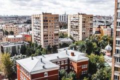 Moskvabostadsområden av mitten arkivfoton