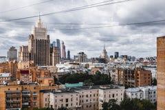 Moskvabostadsområden av mitten royaltyfri fotografi