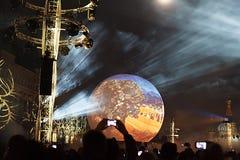 Moskvaettårig växtfestival Arkivbild