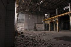 Moskvafabrik under rivning Arkivbild