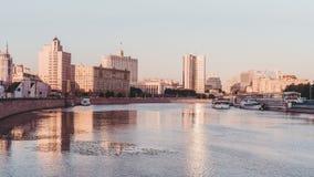 Moskvaflod och cityscape Royaltyfri Bild