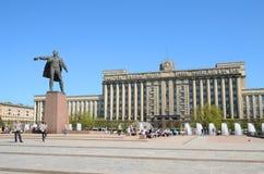 Moskvafyrkant i Petersburg, Ryssland. Arkivbild