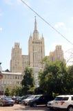 Moskvagatan småhuset på stranden grejar Juli Royaltyfria Bilder