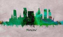 Moskvahuvudstad av Ryssland, horisont arkivfoto
