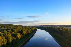 Moskvakanal i det Dmitrov området av Moskvaregionen Top beskådar royaltyfri fotografi