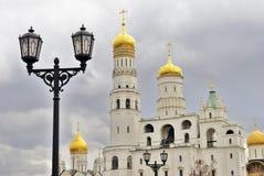 MoskvaKremlkyrkor Färgfoto Fotografering för Bildbyråer
