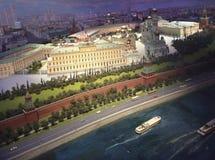 MoskvaKremlmodell i det Radisson Ukraina hotellet arkivbilder