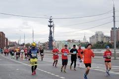Moskvamaratonlöpare Fotografering för Bildbyråer