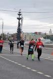 Moskvamaratonlöpare Royaltyfri Bild