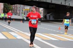 Moskvamaratonlöpare Arkivbilder