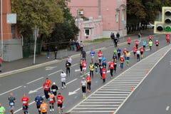 Moskvamaratonlöpare Arkivbild