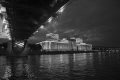 Moskvarivier, Moskou, Rusland Stock Fotografie