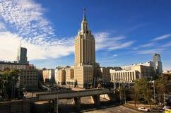 Moskvascyscraper Fotografering för Bildbyråer