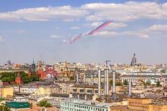 Moskvasegerdagen ståtar Arkivfoton