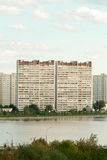 Moskvaskyskrapor royaltyfria bilder