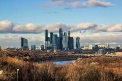 Moskvastad, internationell affärsmitt för Moskva, Ryssland Arkivfoto