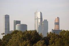 Moskvastadsaffär och lägenhetmitt Royaltyfri Bild