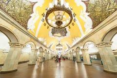 Moskvatunnelbana Arkivfoto