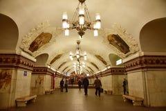 Moskvatunnelbana Royaltyfri Fotografi