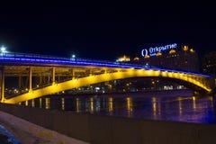 Moskvatunnelbana-bro Arkivfoto