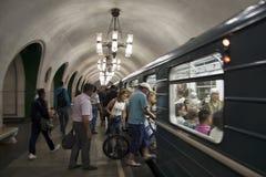 Moskvatunnelbanastation arkivbild
