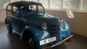 Moskvich auto 401 fotografía de archivo