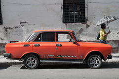 Moskvich-Autos Lizenzfreie Stockfotos