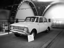 Moskvich-412. On exhibition of soviet automobile production, Black&white, VDNKH, Moscow Royalty Free Stock Photos