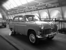 Moskvich-403. On exhibition of soviet automobile production, Black&white, VDNKH, Moscow Royalty Free Stock Image