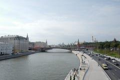 Moskvoretskaya invallning moscow Ryssland Arkivbild