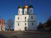 Moskvoy.Na temple under blue sky background. Royalty Free Stock Photos
