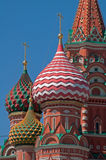 Moskwa Świątobliwi basile Katedralni Fotografia Stock