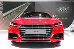 MOSKWA, AUG - 30: Audi TTS samochodu model przy Moskwa zawody międzynarodowi mot Fotografia Stock