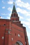 Moskwa Borovitskaya Wierza Kremlin Zdjęcia Royalty Free
