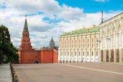Moskwa Borovitskaya Wierza Kremlin obrazy stock