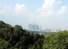 """Moskwa centrum biznesu """"Moscow City†Międzynarodowy  zdjęcie royalty free"""